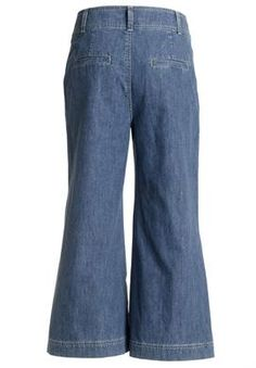 Jean, capri length, wide leg, by Ellos® | Plus Size Ellos® | Woman Within