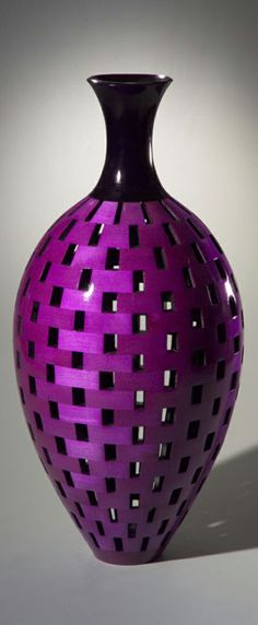 Turned Vessel, Dyed, Lacquered Maple - Joel Hunnicutt. HC