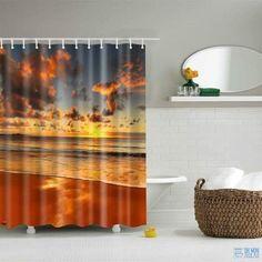 Imperméable à l/'eau salle de bains Rideau de douche extra avec 12 crochets Ring Set 180x180CM