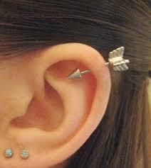 Arrow Helix Piercing Jewelry at MyBodiArt