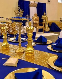 This particular baby shower brunch is a really inspirational and great idea Royalty Theme Party, Royalty Baby Shower Theme, Baby Shower Princess, Boy Baby Shower Themes, Baby Boy Shower, Prince Birthday Theme, 16th Birthday, Royal Baby Showers, Royal Blue And Gold