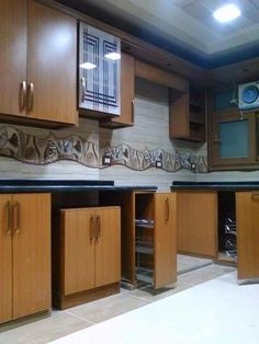 Modern wooden style alumital kitchen designs - Stylish Home Decors, Food Recipes, Beauty Care Recipes
