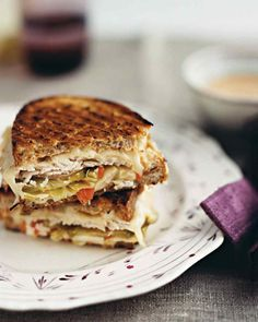 Turkey Reuben : rye bread, leftover turkey, russian dressing, swiss cheese, cabbage slaw, dill pickles ; thanksgiving leftovers ; sandwiches