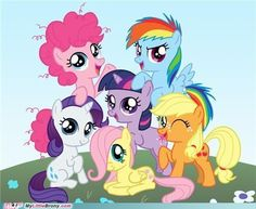 Filly Pinkie Filly Rainbow Dash Filly Applejack Filly Rarity Filly Twilight Sparkle Filly Fluttershy