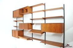 Wall System in Teak designed by Kai Kristiansen for FM Feldballe 1960s