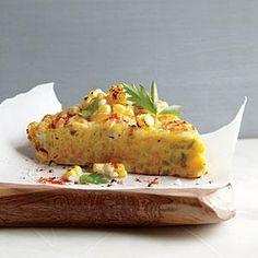 Corn Frittata with Pecorino-Romano Cheese Recipe | Cooking Light #myplate #veggies