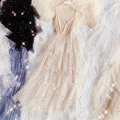 Online Shop HISUMA summer new female V-neck strap stars sequined layer ruffles m. Online Shop HISUMA summer new female V-neck strap stars sequined layer ruffles mesh ball gown Fairy dresses women& sling bling tiered dress Dress Outfits, Fashion Dresses, Dress Up, Cute Outfits, Fairy Outfits, Ruffle Dress, Dress Long, Elegant Dresses, Pretty Dresses