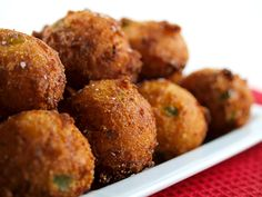 hush puppies recipe with jalapeno and cheese Seafood Recipes, Appetizer Recipes, Cooking Recipes, Cooking Blogs, Appetizers, Cooking Pork, Cooking Games, Jalapeno Cheese, Jalapeno Recipes