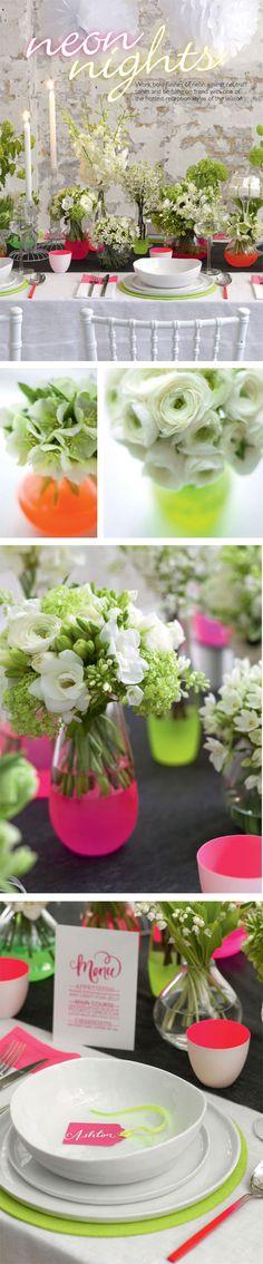 Neon - pops not blinding for a wedding...