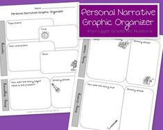 Free graphic organizer for planning a personal narrative.