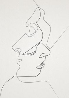 Super abstract line art design illustrations ideas Illustration Ligne, Beauty Illustration, Line Illustration, Nice Pictures To Draw, Art Abstrait Ligne, Minimal Art, Face Line Drawing, Drawing Faces, Geometric Tatto