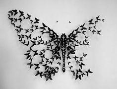 vinyl records butterfly artwork