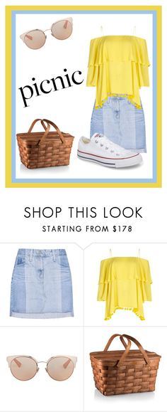 """""""Picnic"""" by clairerose44 ❤ liked on Polyvore featuring AG Adriano Goldschmied, Alice + Olivia, Christian Dior, Converse, Summer and picnic"""