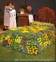 bed of flowers....flower bed