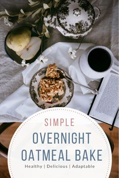 This simple overnight oatmeal bake is a healthy and quick hot breakfast idea. This is a wonderful base recipe that you can adapt to fit your needs and the seasons. I also love having this recipe when we have overnight guests because I can have a hot breakfast for them without making a mess in my kitchen the morning of. #overnightoatmealbake #fromscratchrecipe #breakfastrecipeideas Healthy Meals To Cook, Healthy Baking, Healthy Food, Overnight Oatmeal, Baked Oatmeal, Real Food Recipes, Great Recipes, Favorite Recipes, Easy Family Meals