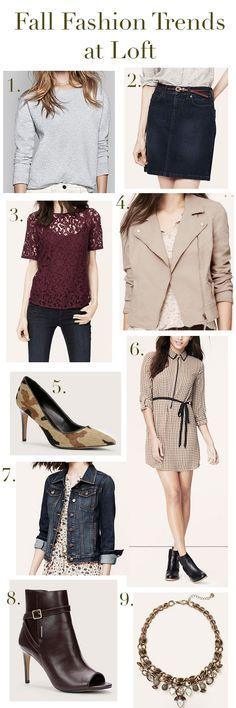Fall Fashion Trends at Loft