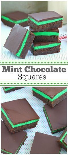 Easy Mint Chocolate Squares Recipe : this dessert recipe has been in my family for more than 40 years. We love these!