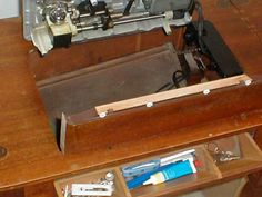 Parsons Sewing Machine cabinet with Electric Lift | Studio Space ...