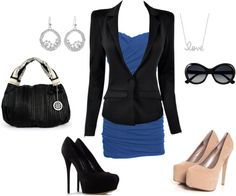 """""""Black and blue part 2"""" by lynette-diaz ❤ liked on Polyvore"""