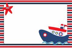 Passatempo da Ana: Kit - Ursinho Marinheiro Scrapbook Bebe, Scrapbook Frames, Under The Sea Theme, Baby Shawer, Cute Frames, Nautical Party, Ocean Themes, Baby Boy Shower, Clipart