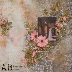Scrap Made in Touraine: Dwell in Possibility - A. Scrapbook Cards, Scrapbooking, Stamp, Closed Doors, Cardmaking, Mixed Media, Floral Wreath, Abs, Design Inspiration