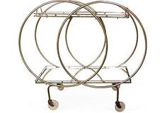French Art Deco-Style Bar Cart