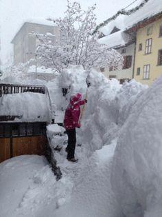 Snowfall MonteRosa valley #italy #alps