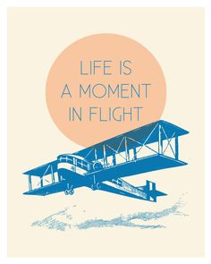 Flying Airplane Print, Mid Century Style. $18.00, via Etsy.