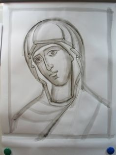 The tracing... The best books about the technology of the icon-painting: http://www.versta-k.ru/en/catalog/66/