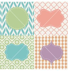 Set of frames vector - by lemony on VectorStock®