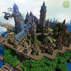 Minecraft Medieval City Very talented people made this. Villa Minecraft, Château Minecraft, Images Minecraft, Minecraft Poster, Architecture Minecraft, Construction Minecraft, Minecraft Kingdom, Minecraft Structures, Amazing Minecraft