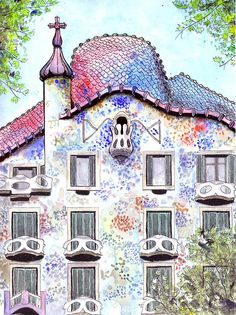 casa batllo drawing - Google Search