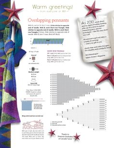 Overlapping pennants scarf XRX Insider Newsletter