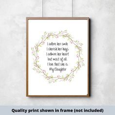 I adore her smile I cherish her hugs I admire her heart but most of all I love that she is My Daughter - Quality Print Ready to Print Painted Wood Signs, Custom Wood Signs, Girl Decor, Baby Decor, Make Your Own Sign, Signs For Mom, Cute Wall Decor, Scripture Signs, Girl Sign