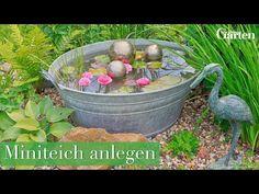 Anleitung: Miniteich für Garten und Balkon anlegen - YouTube