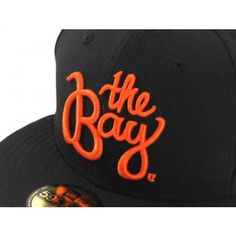The Bay New Era Hat (BLACK ORANGE) Orange Logo 09e1dcb57d41