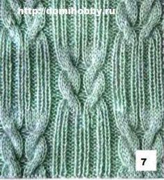 Stricken Knitting patterns with braids, Knitting Stiches, Cable Knitting, Knitting Charts, Knitting Patterns Free, Knitting Yarn, Knit Patterns, Hand Knitting, Stitch Patterns, Knit Stitches