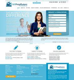 Webdesign concept made for NY Prep Tutors
