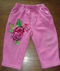 Patched baby's pants