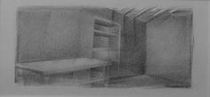 © Roberto Batista, 2005. Grafito sobre papel, 13x26cm.