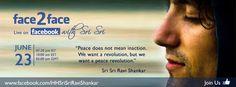 * ¿Tienes preguntas a cerca de tu mente? Pregúntale a Sri Sri  23 de junio 4pm España www.facebook.com/HHSriSriRaviShankar  * ¿What´s on your mind? Ask Sri Sri 23th Jun 4pm Spain www.facebook.com/HHSriSriRaviShankar