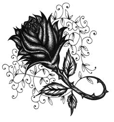 Gothic Rose Tattoo | South of Sweet - GRAPHICS | Tattoo ...