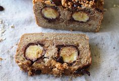 Chocolate Peanut Crumble Banana Bread