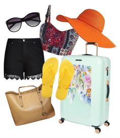 """Sunny Vacation Time!"" by trendytoad on Polyvore featuring City Chic, Ted Baker, Havaianas and Vince Camuto"