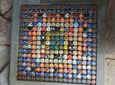 cool bottle cap table