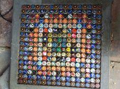 cool bottle cap table