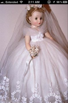The bride doll I got for my birthday one year was my pride and joy until my younger sister got hold of it and ruined it. I was heartbroken.