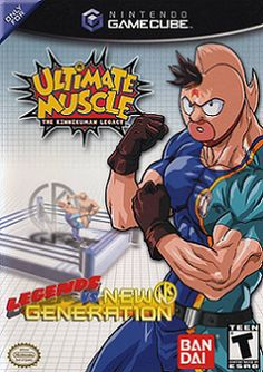 Ultimate Muscle: Legends vs. New Generation (AKI Corporation/Bandai), GameCube; wrestling game based on the anime & manga, Ultimate Muscle. It was developed in Japan by AKI Corporation & released in Japan (in 2002) & North America (in 2003) only on the GameCube. The game scored an average rating of 7.9 out of 10 from 17 reviews.