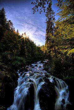 Waterfall - The Hermitage, Dunkeld, Perthshire, Scotland.