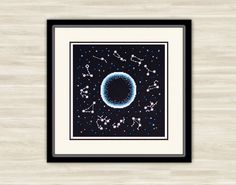Constellation Cross Stitch night sky Pattern PDF starry sky Gift needlework astronomy pattern embroidery galaxy Hand Made outer space (5.50 USD) by TimeForStitch